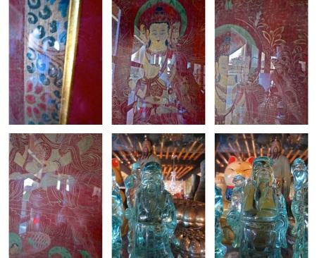 glass buddhas